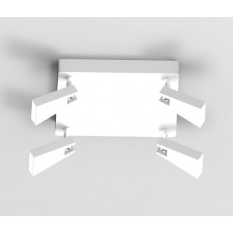 ZUMA LINE CK99603A-4 | Spazio Zuma Line spot svjetiljka elementi koji se mogu okretati 4x LED 1600lm 3000K bijelo mat