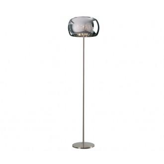 ZUMA LINE F0076-04A | CrystalZL Zuma Line podna svjetiljka 158cm sa nožnim prekidačem 4x G9 krom, galvanizirana metalna površina, prozirno