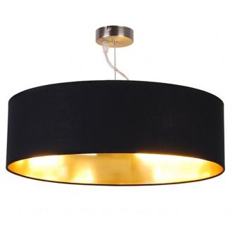 ZUMA LINE HP1392-500-BL | Andrea Zuma Line visilice svjetiljka okrugli 1x E27 saten, crno, zlatno