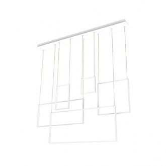 ZUMA LINE L171209-5 | RectanZL Zuma Line visilice svjetiljka četvorougaoni 5x LED 3200lm 3000K krom, bijelo