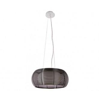 ZUMA LINE MD1104-2BL | Tango Zuma Line visilice svjetiljka okrugli s mogućnošću skraćivanja kabla 2x E27 krom, crno, opal