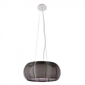 ZUMA LINE MD1104-2LBK | Tango Zuma Line visilice svjetiljka okrugli s mogućnošću skraćivanja kabla 2x E27 krom, crno, opal