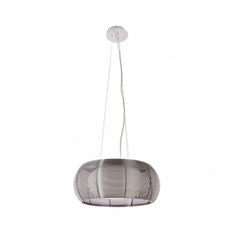 ZUMA LINE MD1104-2SL | Tango Zuma Line visilice svjetiljka okrugli s mogućnošću skraćivanja kabla 2x E27 krom, srebrno, opal