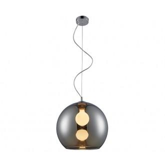 ZUMA LINE MD1621-1CH | VeroZL Zuma Line visilice svjetiljka kuglasta 1x E27 krom, dim, prozirno