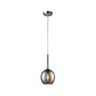 ZUMA LINE MD1629-1CH | Monic Zuma Line visilice svjetiljka 1x E14 krom, dim, prozirno