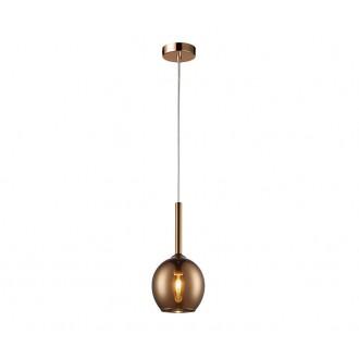 ZUMA LINE MD1629-1CO | Monic Zuma Line visilice svjetiljka 1x E14 krom, dim, prozirno