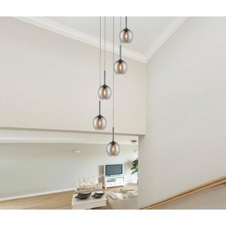 ZUMA LINE MD1629-5BCH | Monic Zuma Line visilice svjetiljka 5x E14 krom, dim, prozirno
