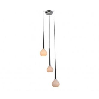ZUMA LINE MD2128A-3W | LibraZL Zuma Line visilice svjetiljka kapsula 3x E14 krom, crno, bijelo