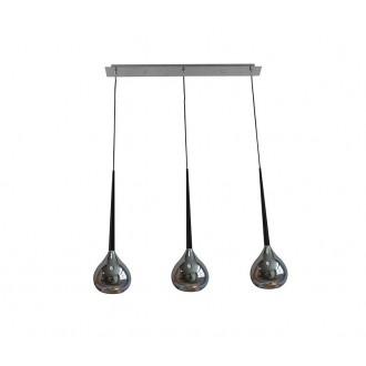 ZUMA LINE MD2128B-3S | LibraZL Zuma Line visilice svjetiljka kapsula 3x E14 krom, crno, srebrno