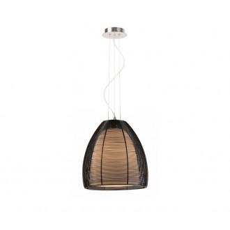 ZUMA LINE MD9023-1LBL | Pico Zuma Line visilice svjetiljka s mogućnošću skraćivanja kabla 1x E27 krom, crno, opal