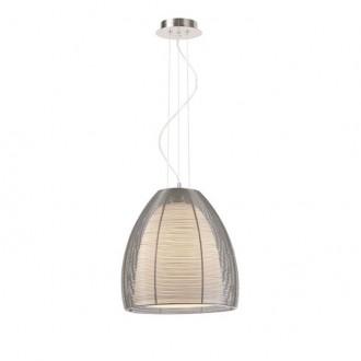 ZUMA LINE MD9023-1LSL | Pico Zuma Line visilice svjetiljka s mogućnošću skraćivanja kabla 1x E27 krom, srebrno, opal