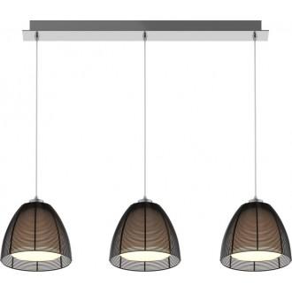 ZUMA LINE MD9023-3BBK | Pico Zuma Line visilice svjetiljka 3x E27 krom, crno, opal