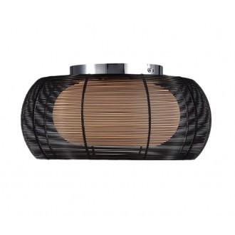 ZUMA LINE MX1104-2BL | Tango Zuma Line stropne svjetiljke svjetiljka okrugli 2x E27 krom, crno, opal