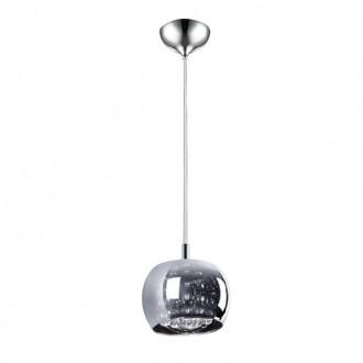 ZUMA LINE P0076-01A | CrystalZL Zuma Line visilice svjetiljka okrugli 1x G9 krom, dim, prozirno