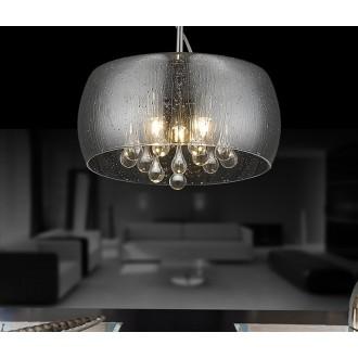 ZUMA LINE P0076-01D-F4K9 | RainZL Zuma Line visilice svjetiljka okrugli s mogućnošću skraćivanja kabla 1x G9 krom, dim, prozirno