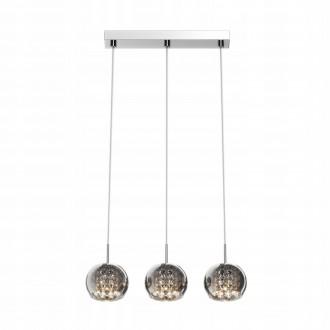 ZUMA LINE P0076-03N | CrystalZL Zuma Line visilice svjetiljka s mogućnošću skraćivanja kabla 3x G9 krom, galvanizirana metalna površina, prozirno