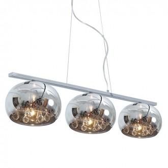 ZUMA LINE P0076-03S | CrystalZL Zuma Line visilice svjetiljka okrugli s mogućnošću skraćivanja kabla 3x G9 krom, dim, prozirno