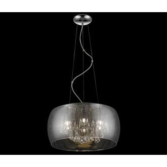 ZUMA LINE P0076-05L-F4K9 | RainZL Zuma Line visilice svjetiljka okrugli s mogućnošću skraćivanja kabla 5x G9 srebrno, dim, prozirno