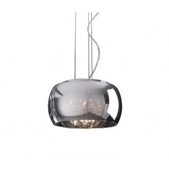 ZUMA LINE P0076-05L | CrystalZL Zuma Line visilice svjetiljka okrugli s mogućnošću skraćivanja kabla 5x G9 krom, dim, prozirno