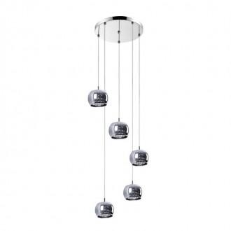 ZUMA LINE P0076-05M-B5FZ | CrystalZL Zuma Line visilice svjetiljka okrugli 5x G9 krom, dim, prozirno