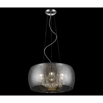 ZUMA LINE P0076-06X-F4K9 | RainZL Zuma Line visilice svjetiljka okrugli s mogućnošću skraćivanja kabla 6x G9 srebrno, dim, prozirno