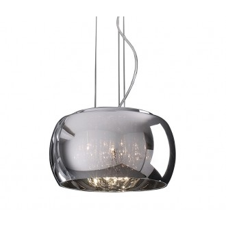 ZUMA LINE P0076-06X | CrystalZL Zuma Line visilice svjetiljka okrugli s mogućnošću skraćivanja kabla 6x G9 krom, dim, prozirno
