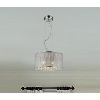 ZUMA LINE P0173-05W | Blink Zuma Line visilice svjetiljka okrugli s mogućnošću skraćivanja kabla 5x G9 krom, srebrno, svjetlucavi