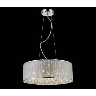 ZUMA LINE P0173-07W | Blink Zuma Line visilice svjetiljka okrugli s mogućnošću skraćivanja kabla 7x G9 krom, srebrno, svjetlucavi