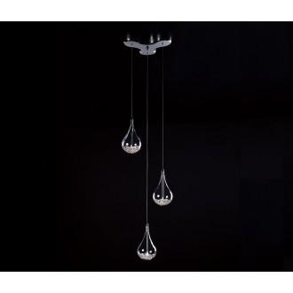 ZUMA LINE P0226-03B | Perle Zuma Line visilice svjetiljka 3x G4 krom, prozirno