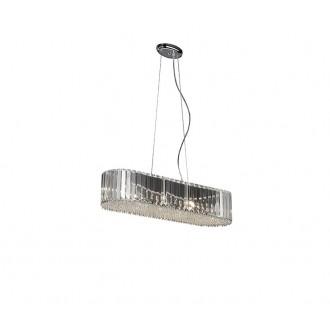 ZUMA LINE P0360-06D-F4AC | Prince Zuma Line visilice svjetiljka s mogućnošću skraćivanja kabla 6x G9 krom, prozirno, kristal