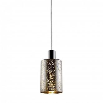 ZUMA LINE P0369-01ASL | Pioli Zuma Line visilice svjetiljka cilindar s mogućnošću skraćivanja kabla 1x E27 krom, srebrno, svjetlucavi