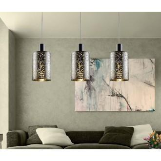 ZUMA LINE P0369-03ASL | Pioli Zuma Line visilice svjetiljka cilindar 3x E27 krom, srebrno, svjetlucavi