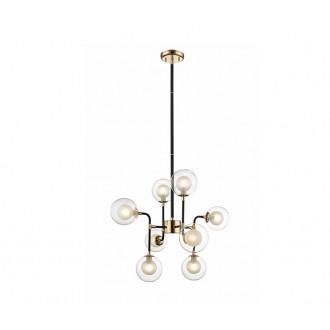 ZUMA LINE P0454-08C | Riano Zuma Line visilice svjetiljka 8x G9 zlatno, crno, prozirno