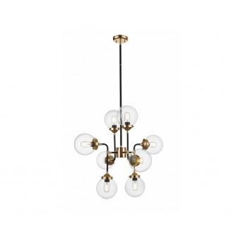 ZUMA LINE P0454-08D | Riano Zuma Line visilice svjetiljka 8x E27 zlatno, crno, prozirno