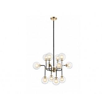 ZUMA LINE P0454-12C | Riano Zuma Line visilice svjetiljka 12x G9 zlatno, crno, prozirno