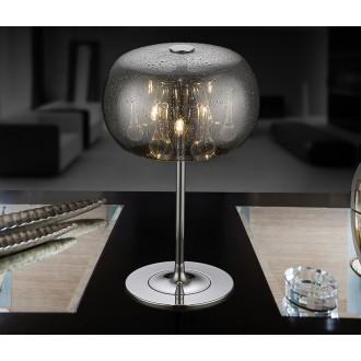 ZUMA LINE T0076-03D-F4K9 | RainZL Zuma Line stolna svjetiljka okrugli 36cm sa prekidačem na kablu 3x G9 krom, dim, prozirno