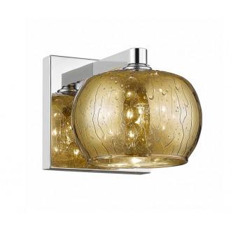 ZUMA LINE W0076-01A-B5L9   RainZL Zuma Line zidna svjetiljka okrugli 1x G9 zlatno, prozirna, krom