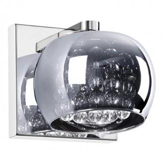 ZUMA LINE W0076-01A | CrystalZL Zuma Line zidna svjetiljka 1x G9 krom, galvanizirana metalna površina, prozirno