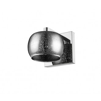 ZUMA LINE W0076-01B-B5GR   Vista Zuma Line zidna svjetiljka okrugli 1x G9 krom, srebrno, svjetlucavi