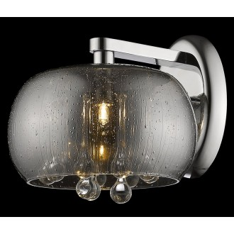 ZUMA LINE W0076-01D-F4K9 | RainZL Zuma Line zidna svjetiljka okrugli 1x G9 krom, dim, prozirno