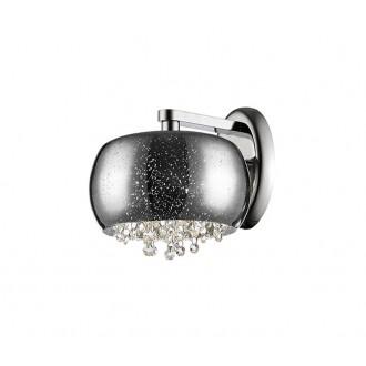 ZUMA LINE W0076-01E-F4GR | Vista Zuma Line zidna svjetiljka okrugli 1x G9 krom, srebrno, kristal