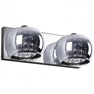 ZUMA LINE W0076-02A | CrystalZL Zuma Line zidna svjetiljka okrugli 2x G9 krom, dim, prozirno