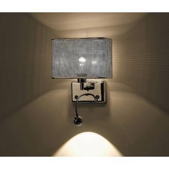 ZUMA LINE W0173-02A | Blink Zuma Line zidna svjetiljka okrugli fleksibilna 1x E27 + 1x LED 250lm krom, srebrno, kristal