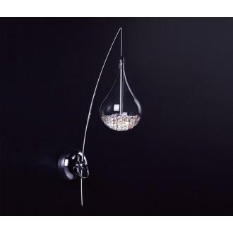 ZUMA LINE W0226-01A | Perle Zuma Line zidna svjetiljka 1x G4 krom, prozirno
