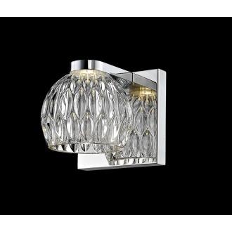 ZUMA LINE W0404-01A | AureliaZL Zuma Line zidna svjetiljka okrugli 1x LED 470lm 3000K krom, prozirno