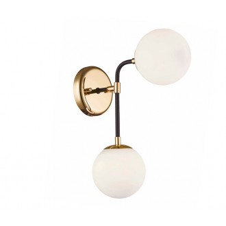 ZUMA LINE W0454-02A | Riano Zuma Line zidna svjetiljka 2x G9 zlatno, crno, prozirno